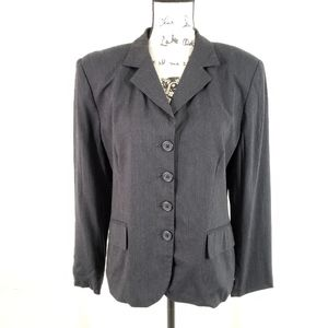 Lauren Ralph Lauren Black Striped Blazer Size 12